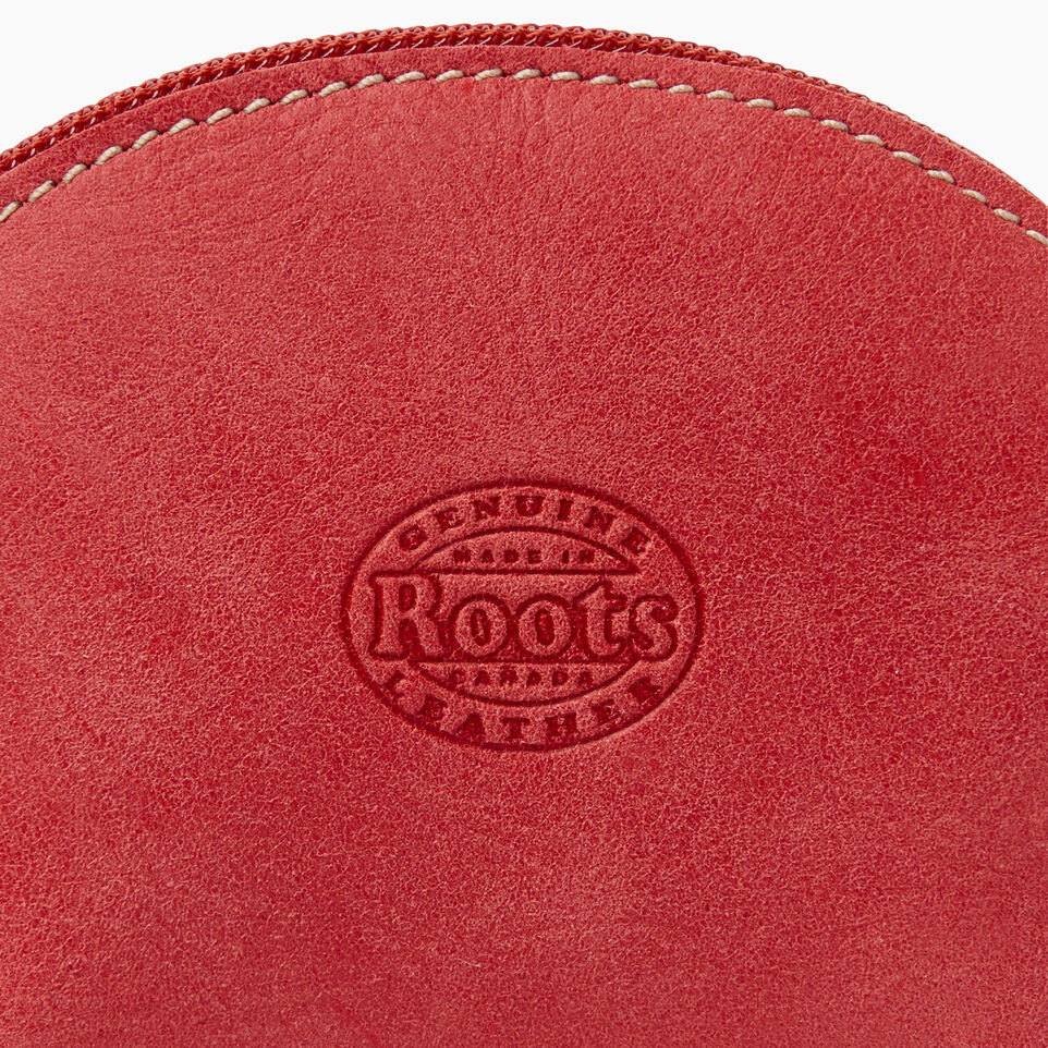 Roots-Leather New Arrivals-Small Euro Pouch-Coral-C