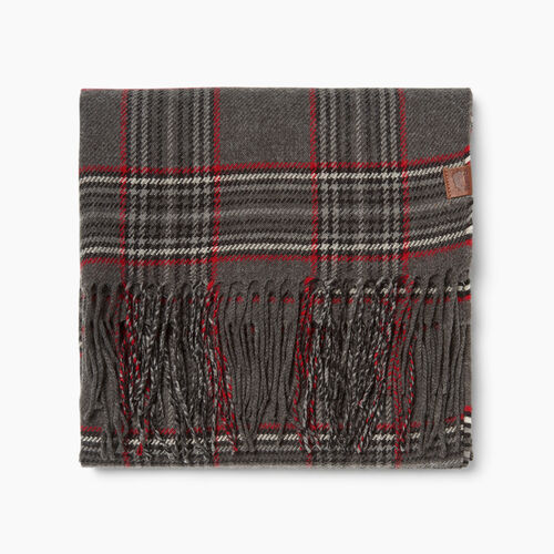 Roots-New For October Plaids-Preppy Plaid Scarf-Charcoal Mix-A