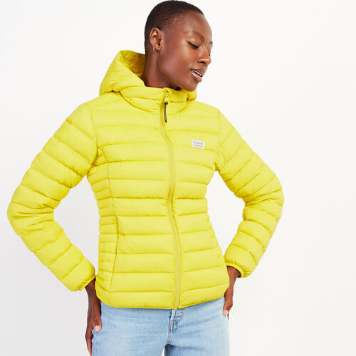 Roots-Women Outerwear-Roots Packable Jacket-Chartreuse-A