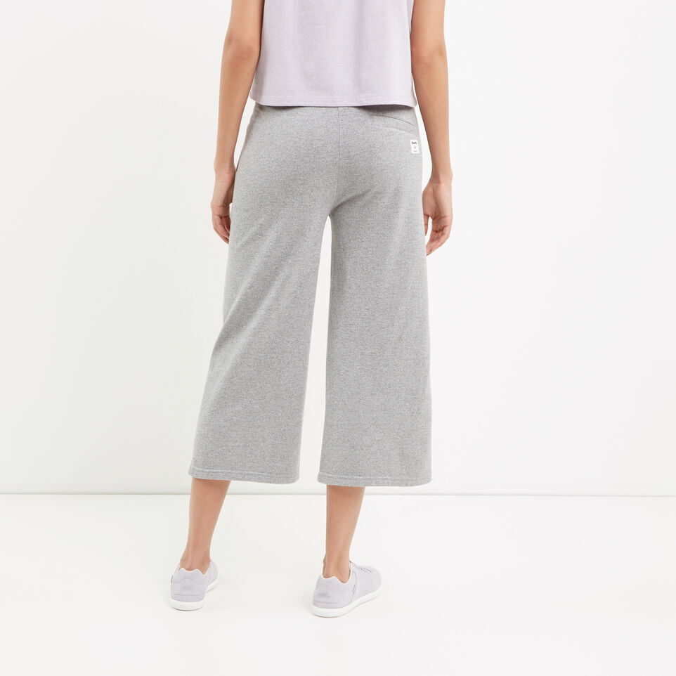Roots-Winter Sale Women-Mabel Lake Culotte Sweatpant-Salt & Pepper-D