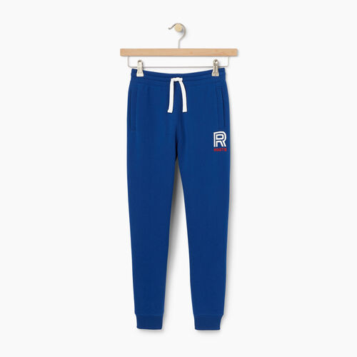 Roots-Winter Sale Kids-Boys Sportsmas Fleece Pant-Active Blue-A
