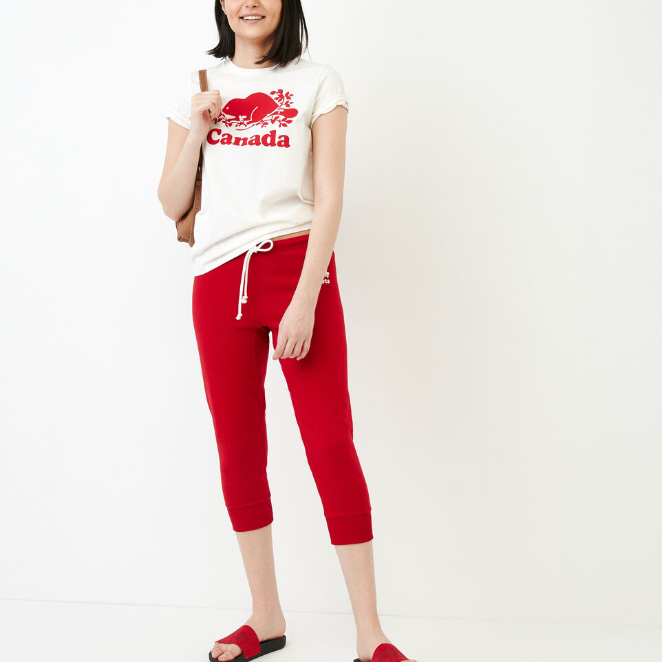 Roots-Women Our Favourite New Arrivals-Tyne Capri-Sage Red-B
