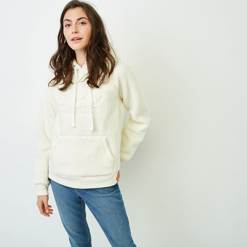 Roots-Women Sweatshirts & Hoodies-Sherpa Hoody-Light Fog-A