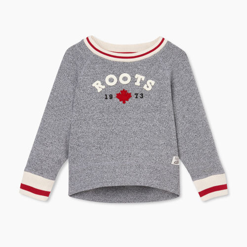 Roots-Sweats Toddler Girls-Toddler Cabin Cozy Crew Sweatshirt-Salt & Pepper-A
