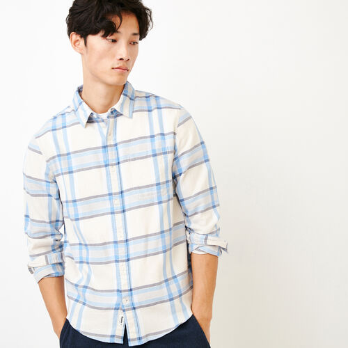 Roots-New For June Plaids-Parker Plaid Shirt-Moonbeam-A