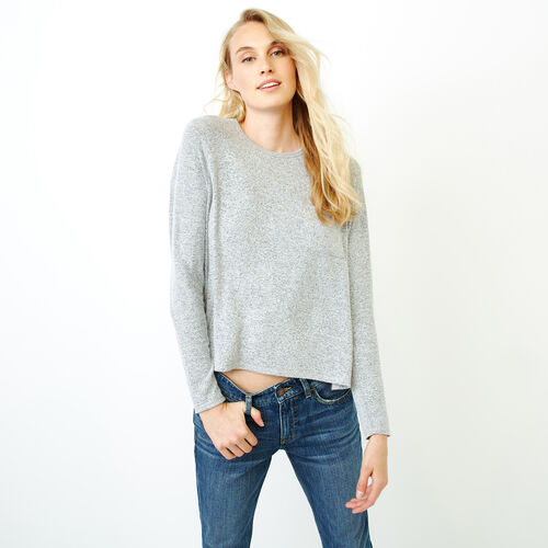 Roots-Women Tops-Cozy Cool Pocket Top-Grey Mix-A