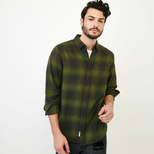 Roots-Men Shirts & Polos-Wallace Flannel Shirt-Fatigue-A