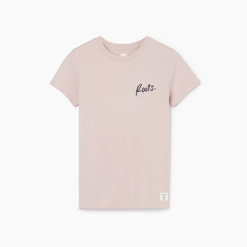 Roots-Women New Arrivals-Womens Animal Organic T-shirt-Burnished Lilac-A