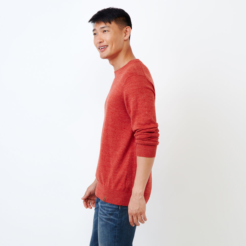 Roots-Men Our Favourite New Arrivals-All Seasons Crew Sweater-Tent Red Mix-C