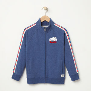 Roots-Kids Sweats-Boys National Track Jacket-Cascade Blue Mix-A