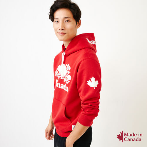Roots-Men Canada Collection By Roots™-Mens Cooper Canada Hoody-Sage Red-A