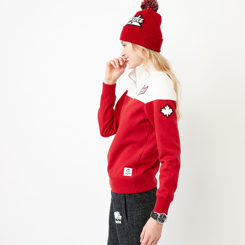 Roots-Women Our Favourite New Arrivals-Canada Zip Stein-Cloudy White-C