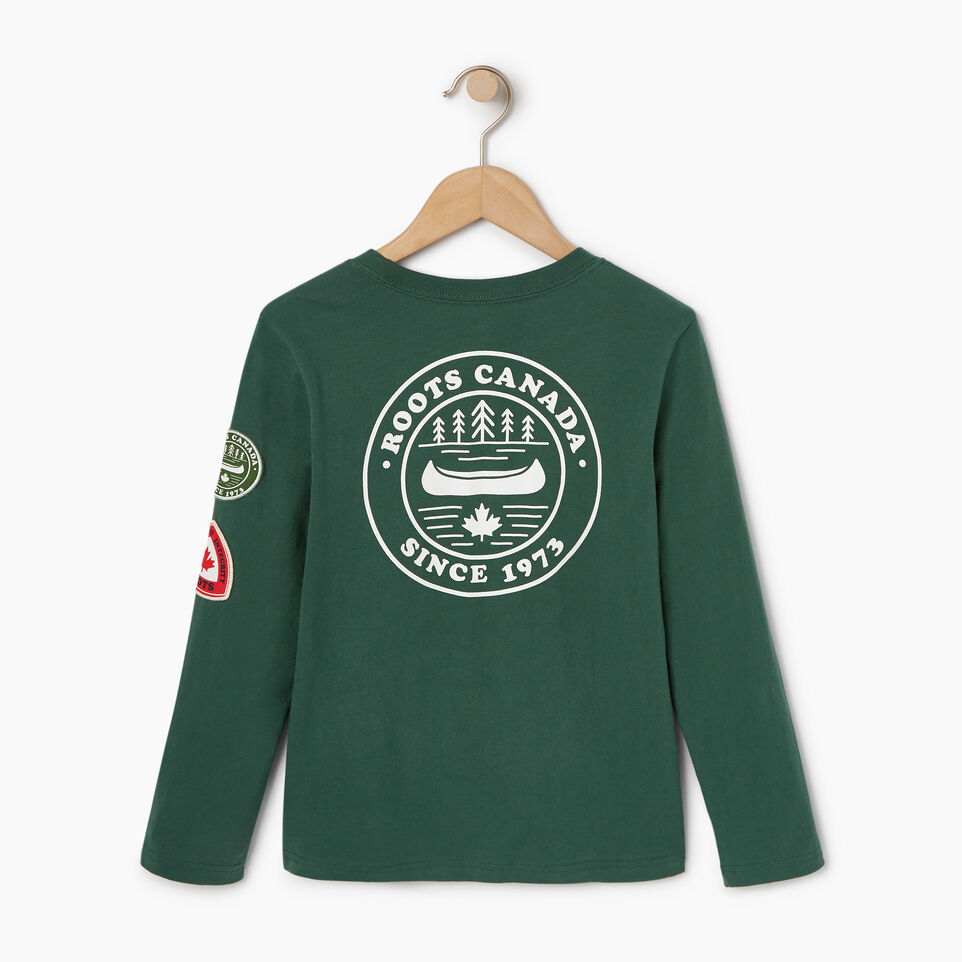 Roots-Kids Our Favourite New Arrivals-Boys Paddle On T-shirt-Hunter Green-B