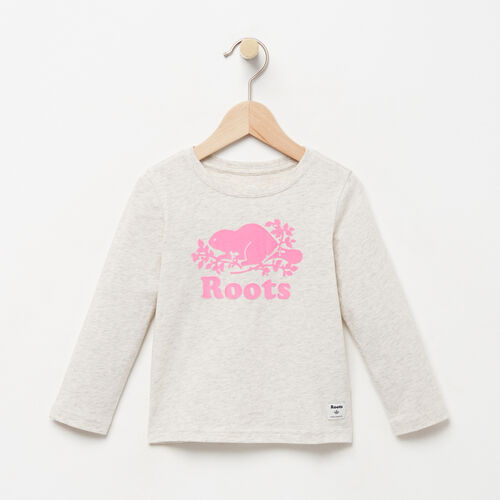 Roots-Winter Sale Toddler-Toddler Original Cooper Beaver T-shirt-White Grey Mix-A