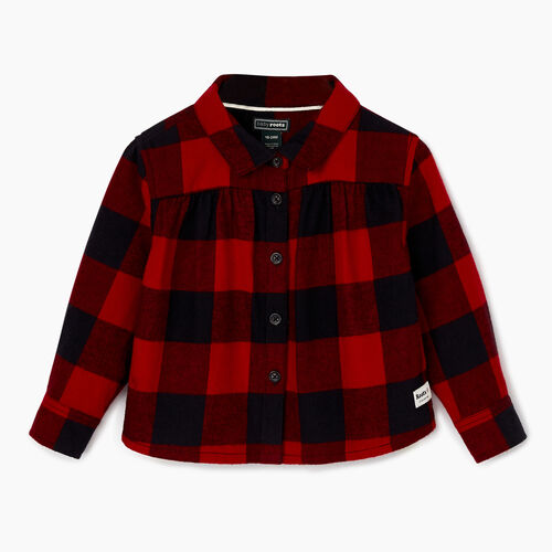 Roots-Sale Kids-Baby Park Plaid Shirt-Lodge Red-A