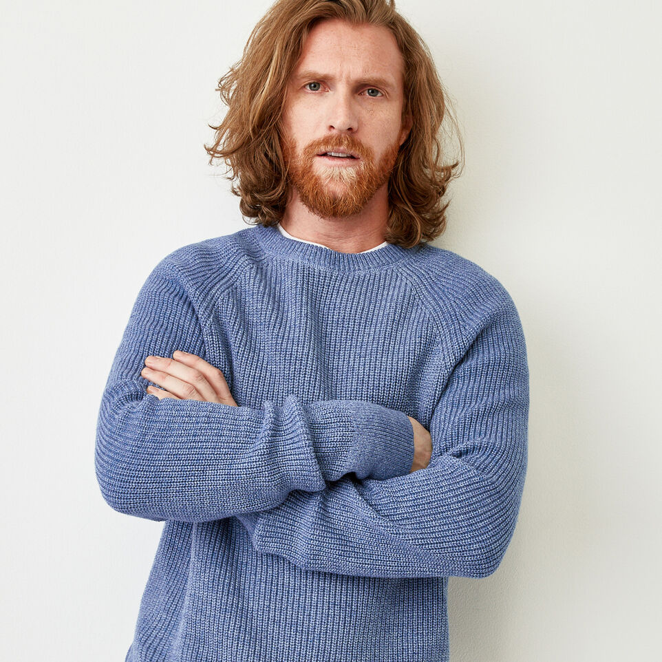 Roots-Men Our Favourite New Arrivals-Baffin Fishermans Sweater-Celestial Blue Mix-A