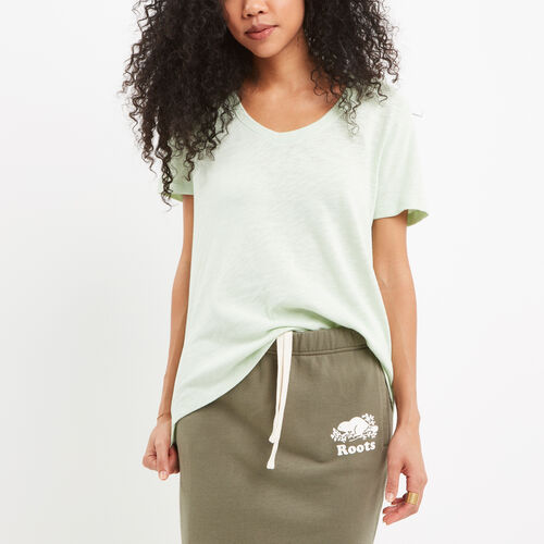 Roots-Sale Women-Ruby V Neck Top-Spray-A