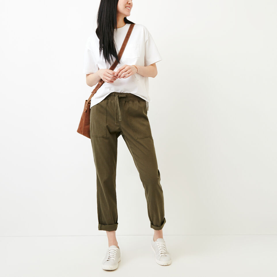 Roots-Women Categories-Essential Pant-Fatigue-B