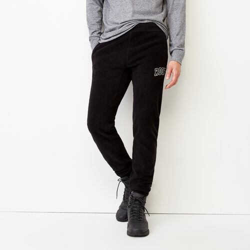 Roots-Winter Sale Men-Vault Polar Slim Sweatpant-Black-A