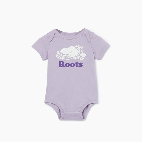Roots-Kids New Arrivals-Baby Cooper Beaver Bodysuit-Wisteria-A