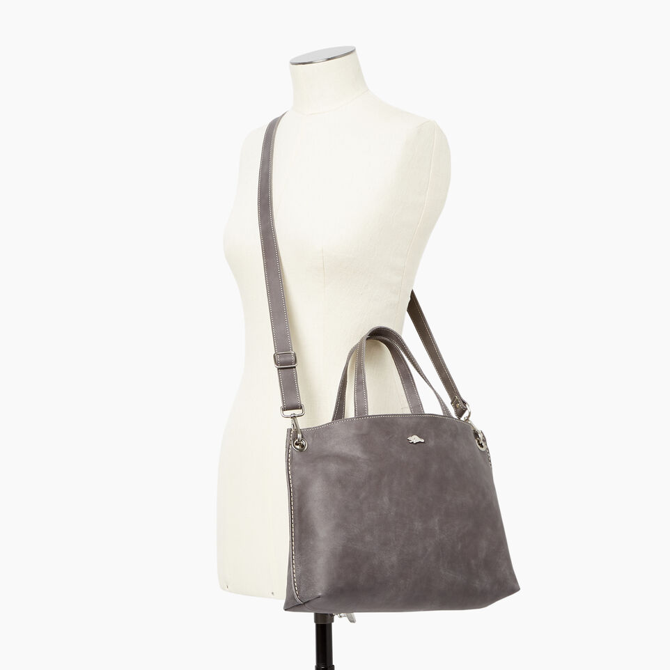 526559079395 Edie Tote Tribe. Roots-Leather ...