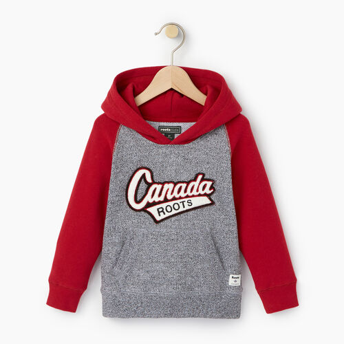 Roots-Kids Tops-Toddler Canada Hoody-Salt & Pepper-A
