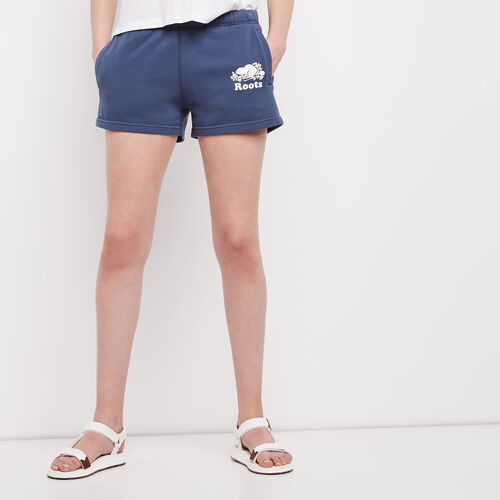 Roots-Women Bottoms-Original Sweatshort-Force Blue-A