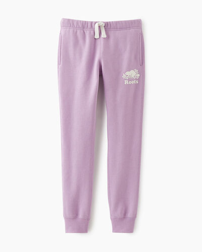 Roots-Sweats Girls-Girls Slim Cuff Sweatpant-Lupine-A