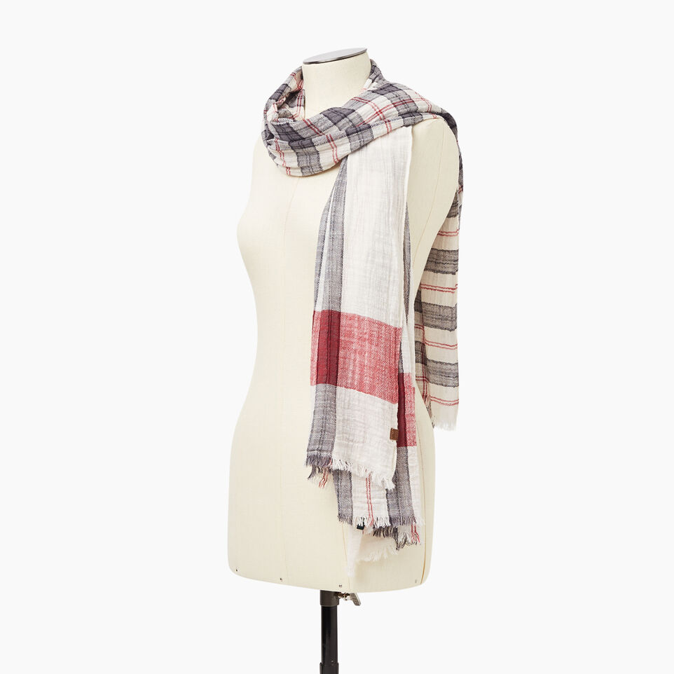Roots-undefined-Smoke Lake Plaid Scarf-undefined-C