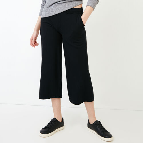 Roots-Women Sweatpants-Melange Terry Sweatpant-Black-A