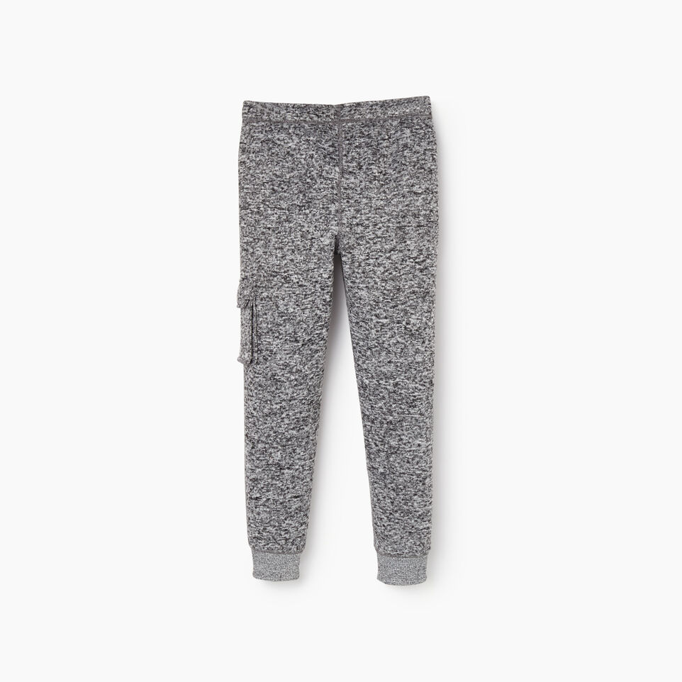 Roots-Kids Bottoms-Boys Sweater Fleece Cargo Pant-Salt & Pepper-B