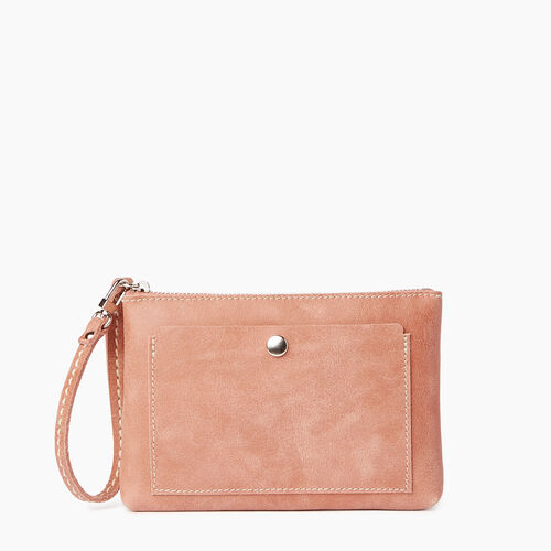 Roots-Leather  Handcrafted By Us Categories-Riverdale Pouch-Canyon Rose-A