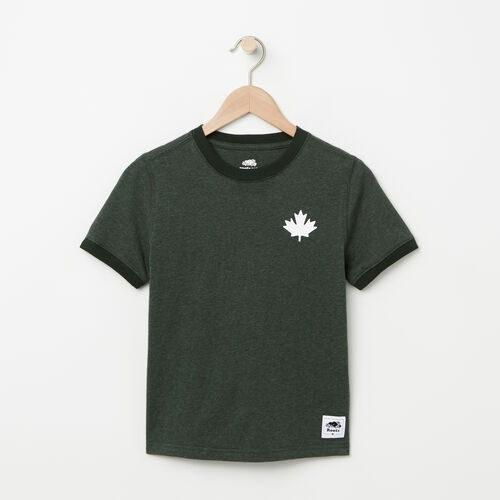 Roots-Kids Boys-Boys Cabin Ringer T-shirt-Park Green Mix-A