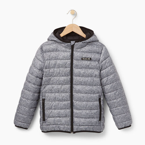 Roots-Kids Outerwear-Boys Roots Puffer Jacket-Salt & Pepper-A