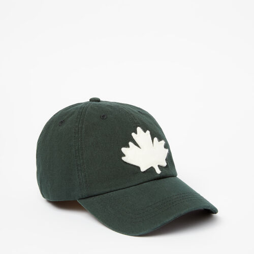 Roots-Women Accessories-Canada Leaf Baseball Cap-Park Green-A