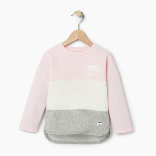 Roots-Kids Our Favourite New Arrivals-Toddler Colour Block Sweatshirt-Pink Mist-A