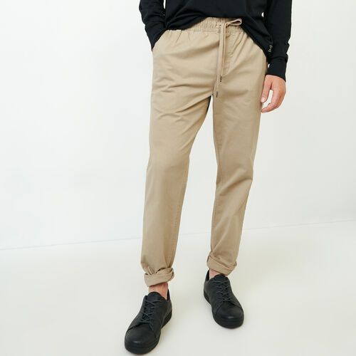 Roots-Clearance Men-Essential Pant-Dark Khaki-A