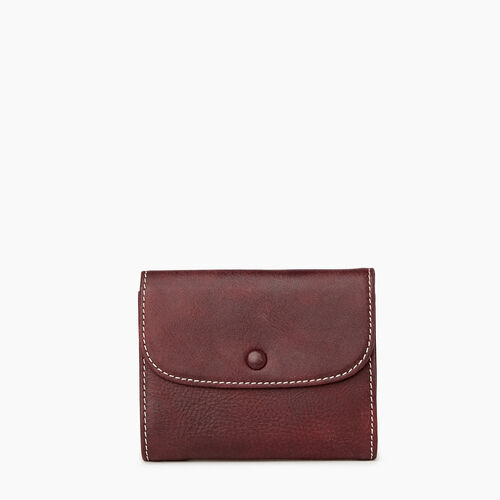 Roots-Leather Women's Wallets-Riverdale Wallet-Crimson-A