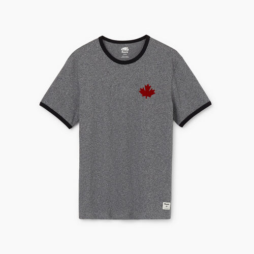 Roots-Men New Arrivals-Mens Canada Cabin Ringer T-shirt-Salt & Pepper-A