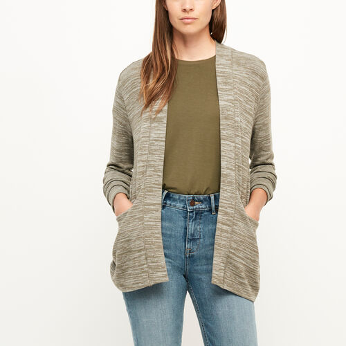 Roots-Black Friday Deals Tops-Julian Open Cardigan-Dk Oatmeal Mix-A