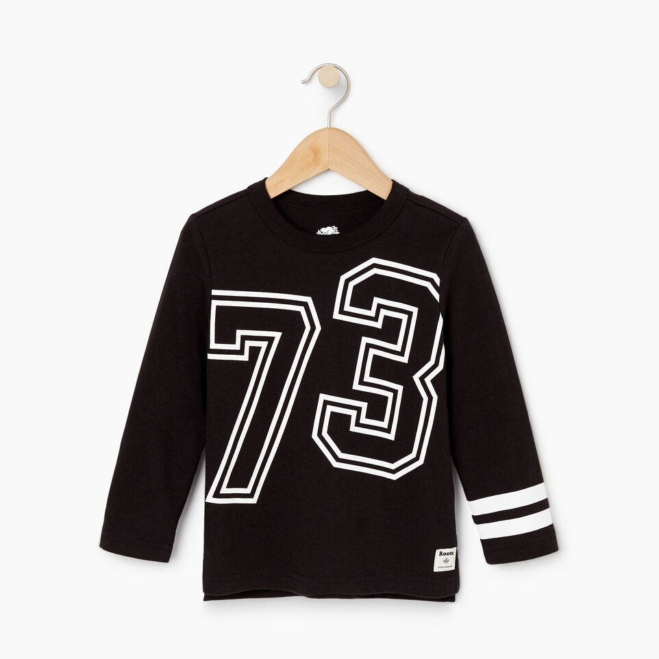 Roots-Kids Tops-Toddler 2.0 T-shirt-Black-A