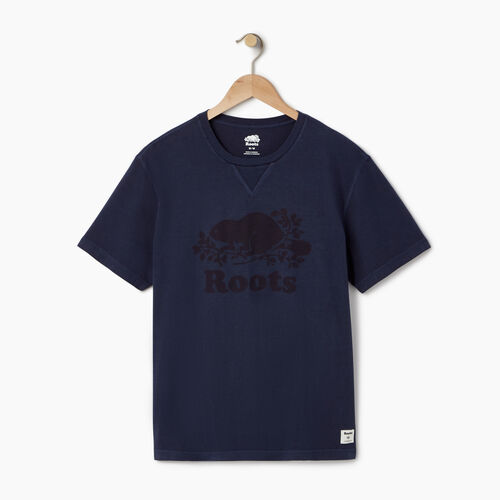 Roots-Men Graphic T-shirts-Mens Sun-oka Cooper T-shirt-Navy Blazer-A