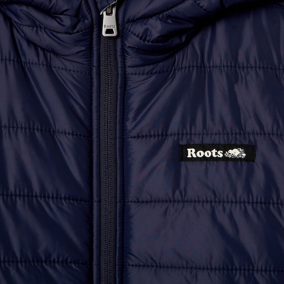 Roots-New For March Daily Offer-Boys Roots Hybrid Hoody Jacket-Navy Blazer-C