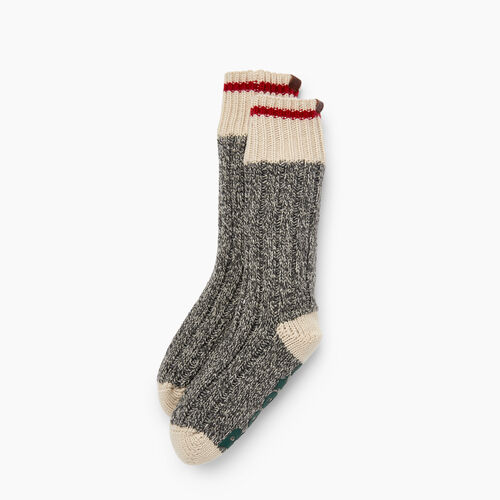 Roots-Clearance Men-Roots Cabin Lounge Sock-Grey Oat Mix-A