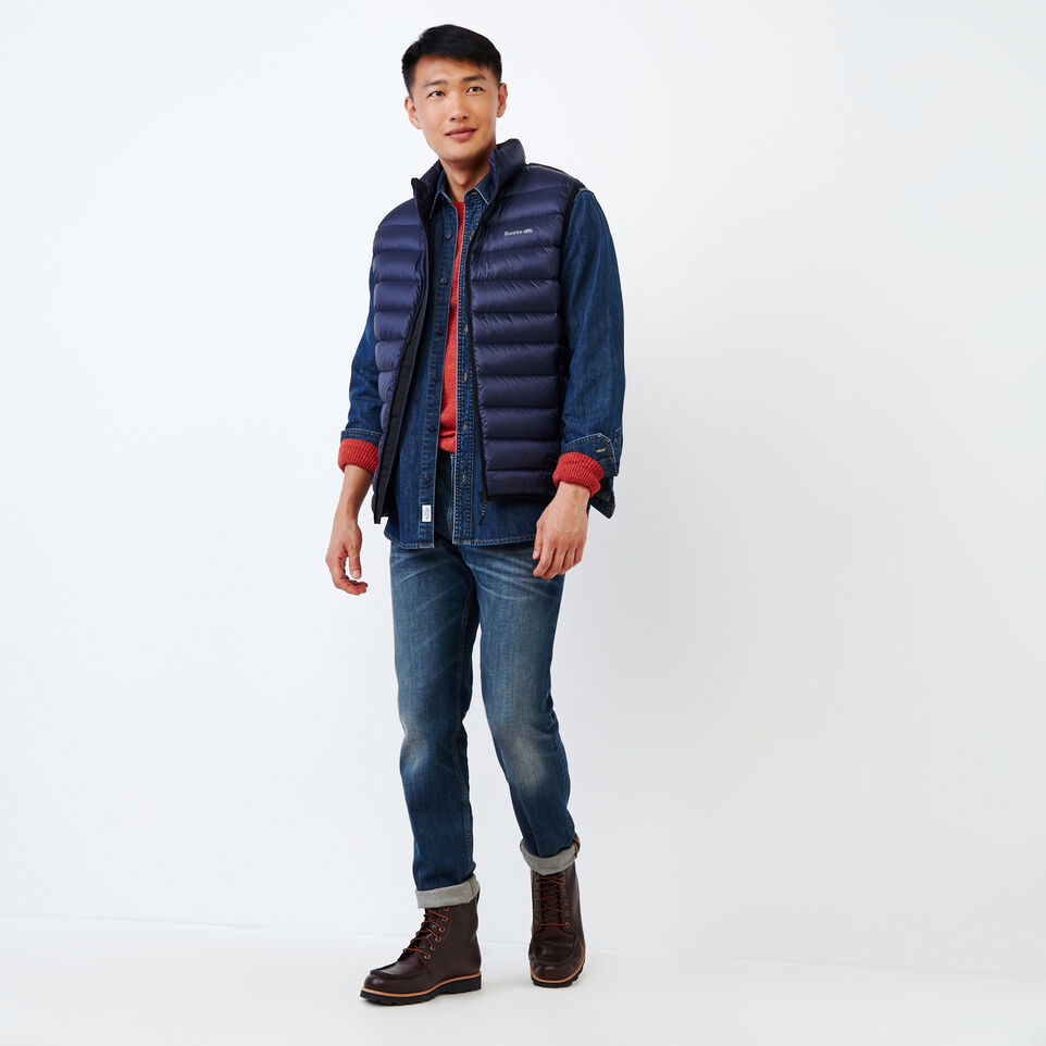 Roots-Men Our Favourite New Arrivals-All Seasons Crew Sweater-Tent Red Mix-B