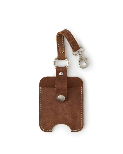 Roots-Men Leather Accessories-Hand Sanitizer Holder 2.0-Natural-A