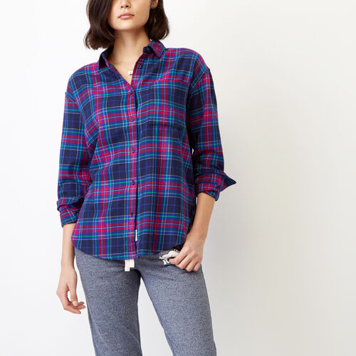 Roots-Winter Sale Women-Alaina Boyfriend Shirt-Magenta-A