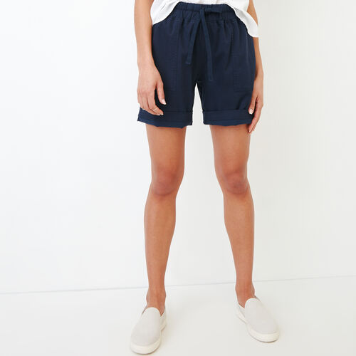 Roots-Women Bottoms-Essential Short-Navy Blazer-A