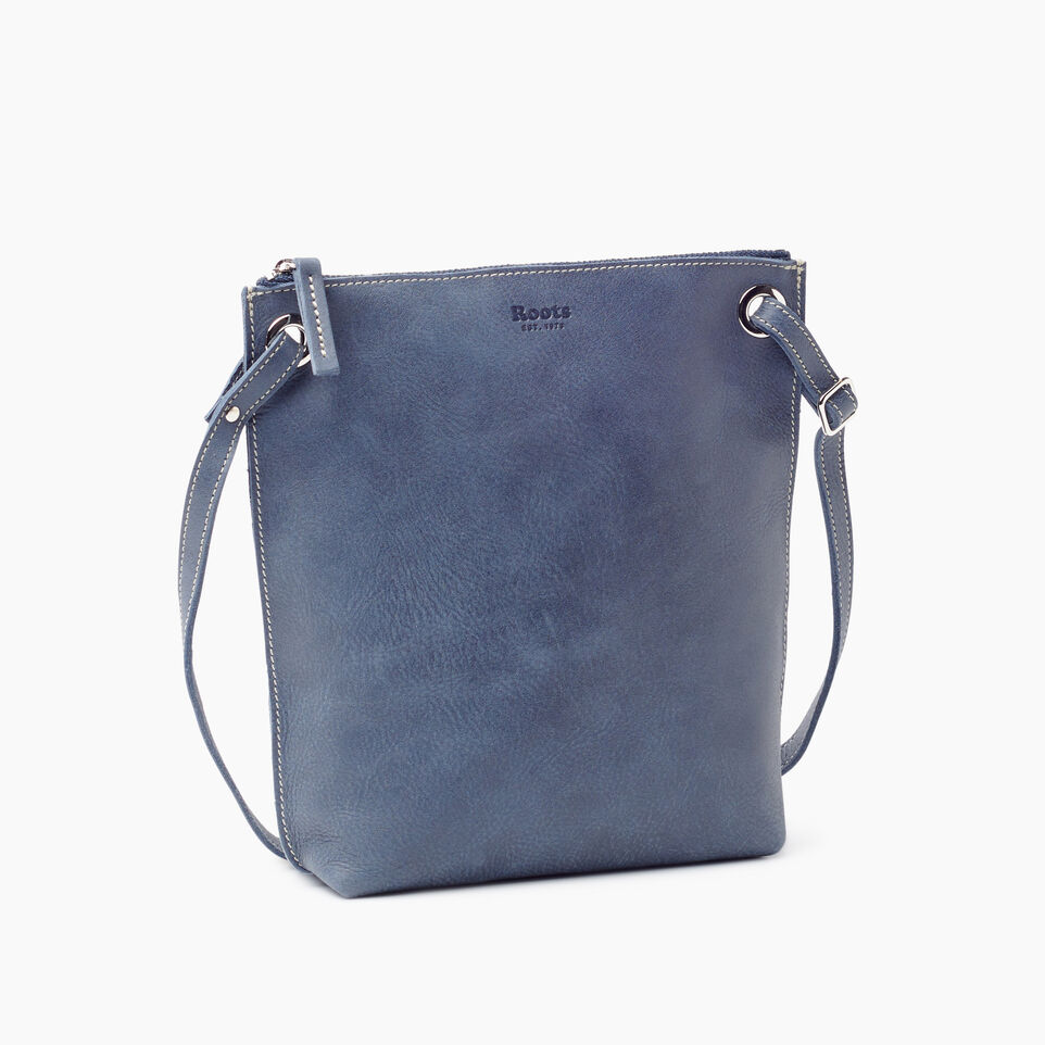 Roots-Leather New Arrivals-Festival Bag-Navy-A
