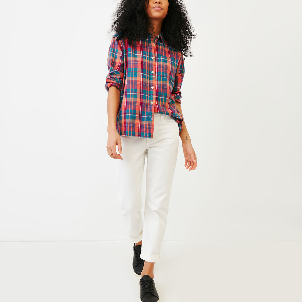 Roots-Women Our Favourite New Arrivals-All Seasons Relaxed Shirt-Spiced Coral-B